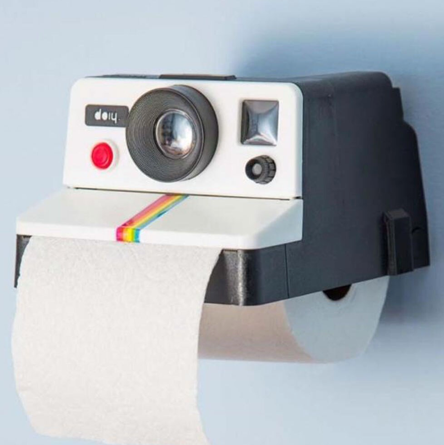 Retro Camera Toilet roll holder