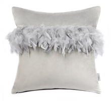 Load image into Gallery viewer, Pretty Feather Cushion cover in Pink or Grey