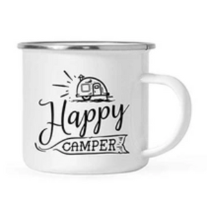 Stainless Steel happy camper mug