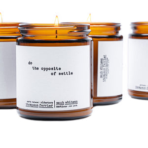 Luxury Settle Quote Candle  Zach Whitman