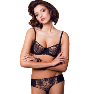 See Though Sheer Lace Demi Bra Caprice Mona