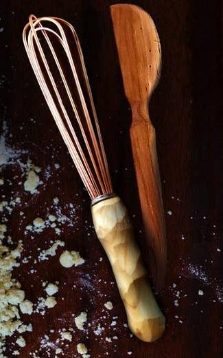 Copper Whisk w/Wood Handle