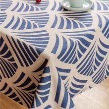 Load image into Gallery viewer, Blue Ginkgo Indoor / Outdoor Tablecloth