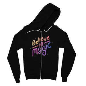 Believe in magic Fine Jersey Zip Hoodie