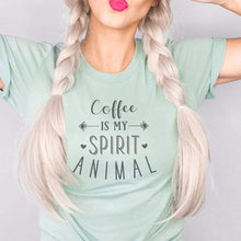 Load image into Gallery viewer, Coffee Is My Spirit Animal Graphic T-Shirt