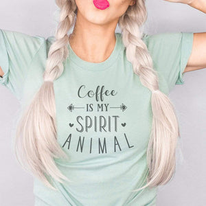 Coffee Is My Spirit Animal Graphic T-Shirt
