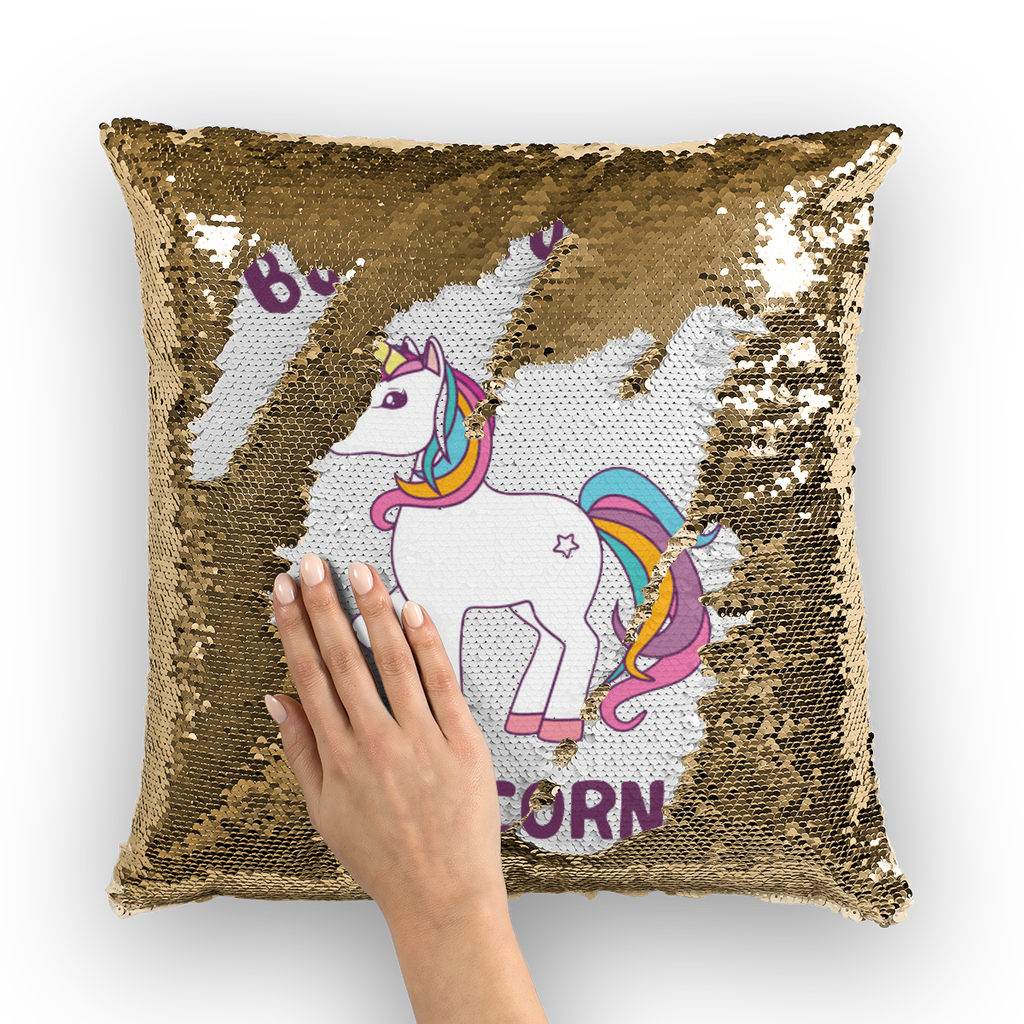 Born to be a unicorn Sequin Cushion Cover