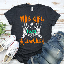 Load image into Gallery viewer, This Girls Loves Halloween T-shirt