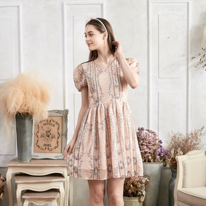 Pretty in pink Floral Fit & Flare Dress