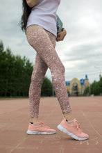 Load image into Gallery viewer, Rose Gold Glitter Printed Leggings