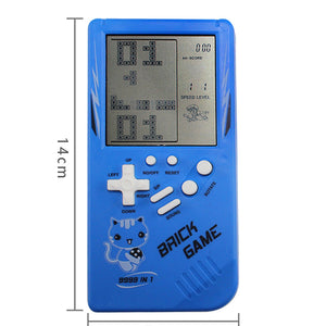 Retro Childhood Tetris Handheld Game Player Blue
