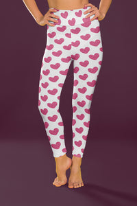 Pink Glitter Hearts Fitness Set