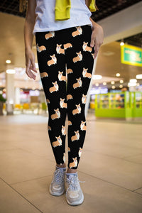 Corgi leggings, Capris and Shorts