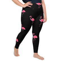 Load image into Gallery viewer, Plus Size Pink Flamingo Leggings
