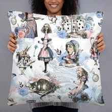Load image into Gallery viewer, 2 sided Alice in Wonderland Pillow