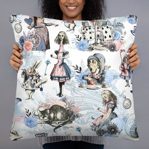 2 sided Alice in Wonderland Pillow