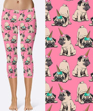 Load image into Gallery viewer, I am a Pugicorn! workout pants. Unicorn + Pug + Ice cream