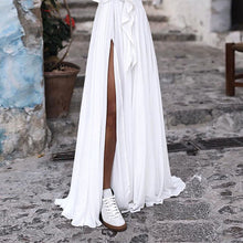 Load image into Gallery viewer, Long casual Boho dress deep v neck