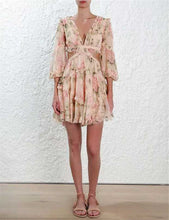 Load image into Gallery viewer, Frilly rayon floral summer dress