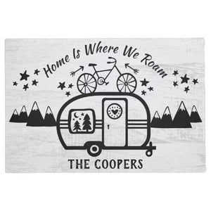 Custom Rustic Camping Camper Trailer Rv Lifestyle Washable doormat