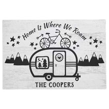 Load image into Gallery viewer, Custom Rustic Camping Camper Trailer Rv Lifestyle Washable doormat
