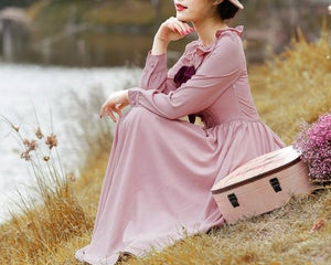 Beautiful bow neck dress 1950s style midi