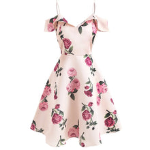Load image into Gallery viewer, Sweet rose print swing dress