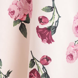 Sweet rose print swing dress