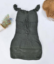 Load image into Gallery viewer, Solid sexy Crochet dress