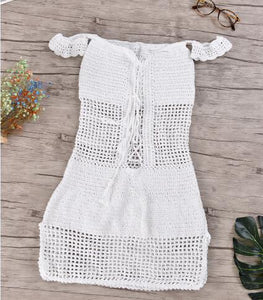 Solid sexy Crochet dress