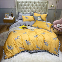 Load image into Gallery viewer, Luxury 100% Egyptian Cotton Zebra Bedding Set