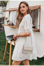 Load image into Gallery viewer, Beautiful white cotton summer dress