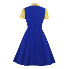 Load image into Gallery viewer, Beautiful tie neck 1950s style dress