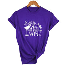 Load image into Gallery viewer, Fashion Dear Santa Bring Wine t shirt