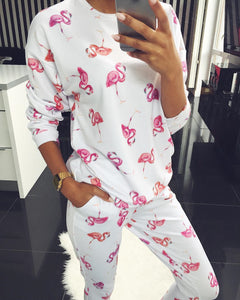 Weird and wonderful tracksuit in bold colors! Flamingo