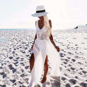 Hippy crochet Beach dress cover up