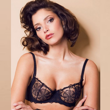 Load image into Gallery viewer, See Though Sheer Lace Demi Bra Caprice Mona
