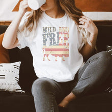 Load image into Gallery viewer, Wild & Free Buffalo Graphic T-Shirt