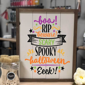 Boo! Halloween Word Art