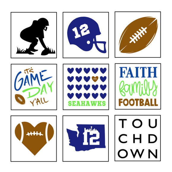 Seahawks Football Minis
