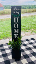 Porch sign with planter box