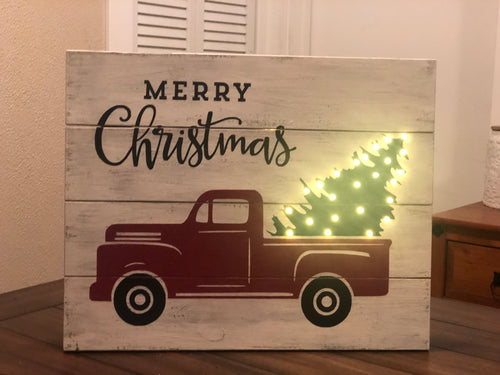 SOLD OUT! Lighted Pallet Style Sign Workshop
