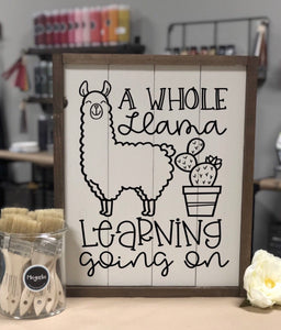 A whole LLAMA learning going on