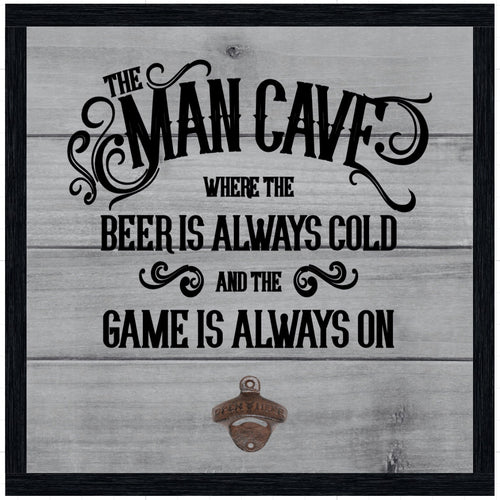 Man Cave with Vintage Style Bottle Opener