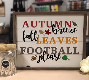 Autumn Breeze Fall Leaves Football Please
