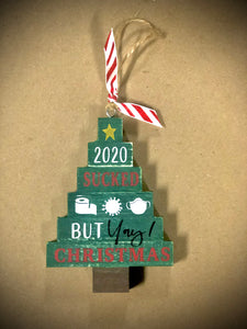 2020 Sucked Stacked Tree Ornament