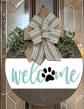 "18"" ROUND- Welcome with Paw"
