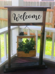Welcome Sign Plant Hanger