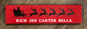 Personalized Santa Sleigh Plank