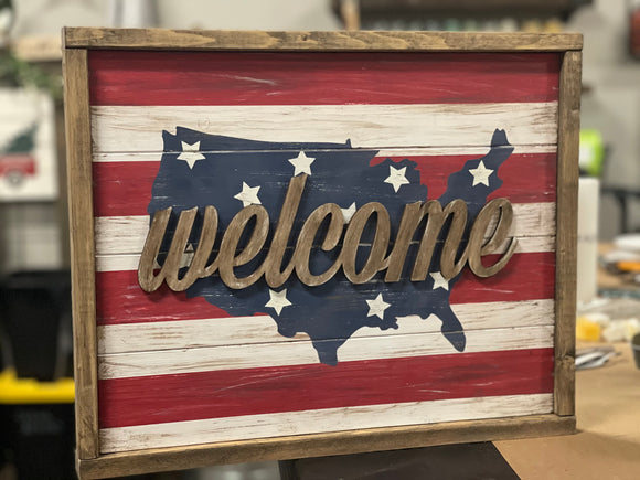 Patriotic Welcome Sign Workshop